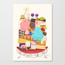 Plate of Sweets Canvas Print