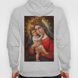 The care of mother's love in oil painting. Hoody
