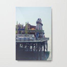 Vintage seaside pier. Metal Print