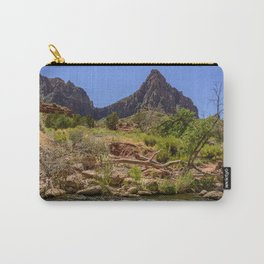 The Watchman & The Virgin 4756 - Zion National Park, Utah Carry-All Pouch
