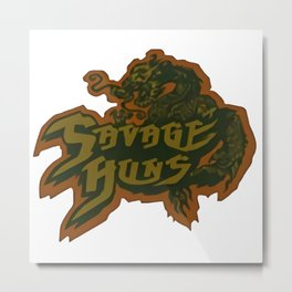 Savage Huns de The Warriors Metal Print