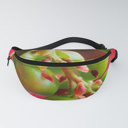 Green Berries Red Background #society6 #decor #buyart Fanny Pack