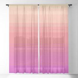 Yellow, Orange, & Purple Uneven Stripes Sheer Curtain