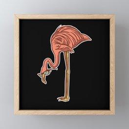Funny flamingo bird with glasses cool flamingo art Framed Mini Art Print