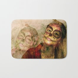 Chola Sugar Skull Grunge Art Bath Mat