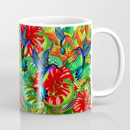 The Lizard, The Hummingbird and The Hibiscus Coffee Mug