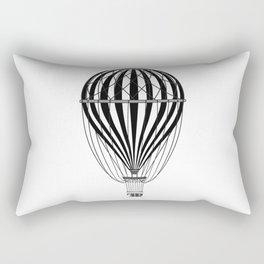 Retro Balloonist Hot Air Balloon Pilot Ballooning Rectangular Pillow
