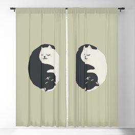 Hidden cat 26 yin yang hug Blackout Curtain