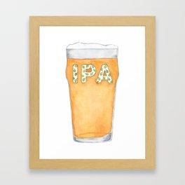IPA Beer Pint Framed Art Print