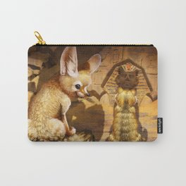 Fennec and Cat Carry-All Pouch
