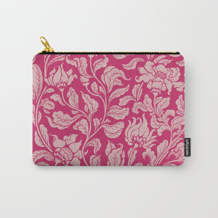neo ethnic pink Carry-All Pouch