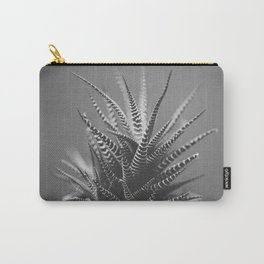 Zebra Haworthia (Stripes in Black and White) Carry-All Pouch