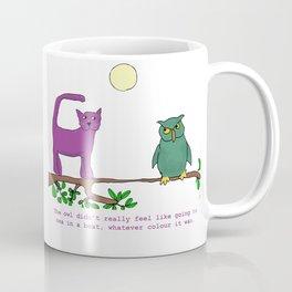 The Owl and the Purple Cat Coffee Mug