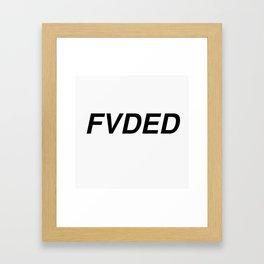 FVDED Framed Art Print