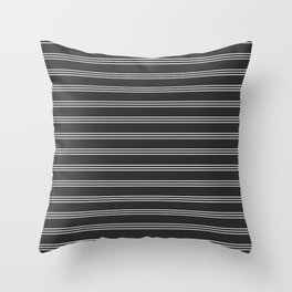 Phillip Gallant Media Design - White Lines on Black Throw Pillow