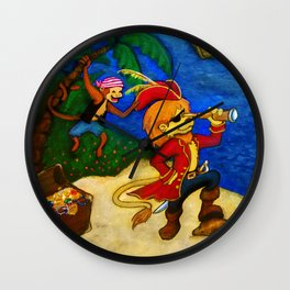 A Pirate's Life  Wall Clock