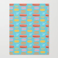 macaron Canvas Prints featuring Macaron by Ashley C. Kochiss