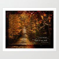 Autumn light Art Print