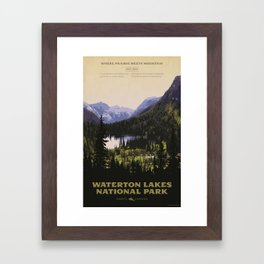 Waterton Lakes National Park Framed Art Print
