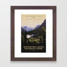 Waterton Lakes National Park Framed Art Print