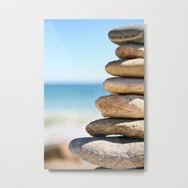 stacked rocks Metal Print