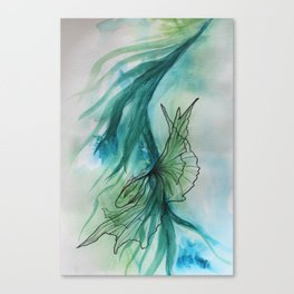 Peaceful Fish Dancing in the Ocean 1 Canvas Print
