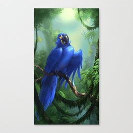 Moseley the Hyacinth Macaw Canvas Print