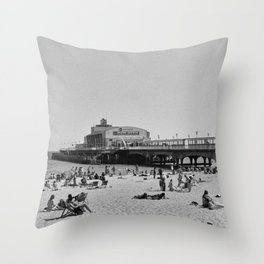 Bournemouth Pier - Summer In England Throw Pillow