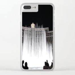 Nighttime at the Belagio Fountain, Las Vegas, Nevada Clear iPhone Case
