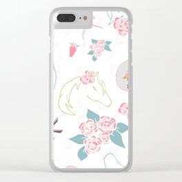 Pretty Horses off to The Races Clear iPhone Case