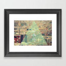 Lost in the city Framed Art Print