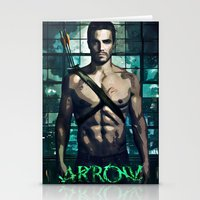 arrow Stationery Cards featuring Arrow by Christine DeLong Creative Studio