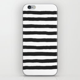 Black paint stripes iPhone Skin