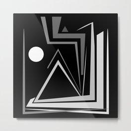 Abstraction 027 - Minimal Geometric Triangle Metal Print