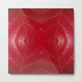 Warm Red Leatherette Metal Print