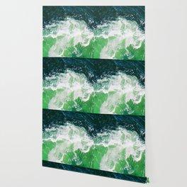 Green Ocean Waves Wallpaper