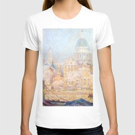Henri le Sidaner - St. Paul's from the River- Morning Sun in Winter T-shirt