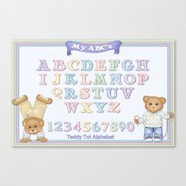 Teddy Bear Alphabet ABC's Canvas Print