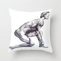 runner Throw Pillows featuring Runner by Eugene G