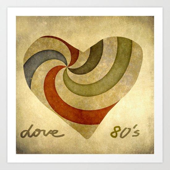 Love 80's Art Print