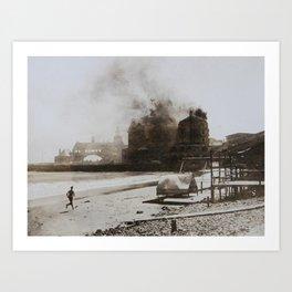 September 12, 1900 Fire at Narragansett Towers, Casino, & Rockingham Hotel Art Print