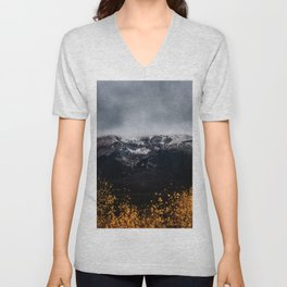 Yellow Tree Moutain Unisex V-Neck