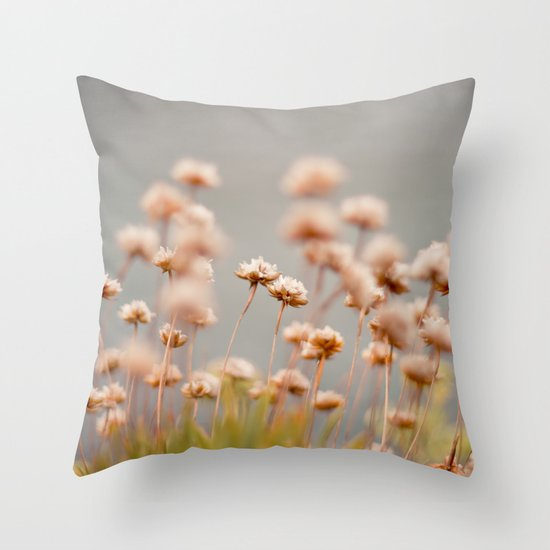 here comes the rain Throw Pillow