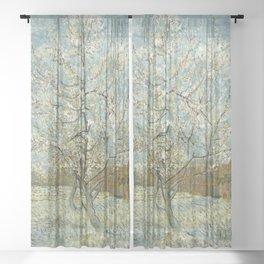 Vincent van Gogh - The Pink Peach Tree Sheer Curtain