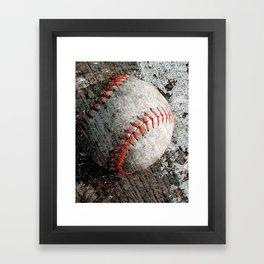 Baseball art Framed Art Print