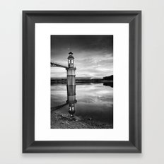 Lighthouse and Moon Framed Art Print