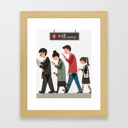 Central Station, Hong Kong Framed Art Print