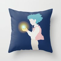 howl Throw Pillows featuring Howl by Polvo
