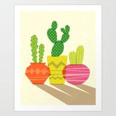 Cactus Bright Art Print