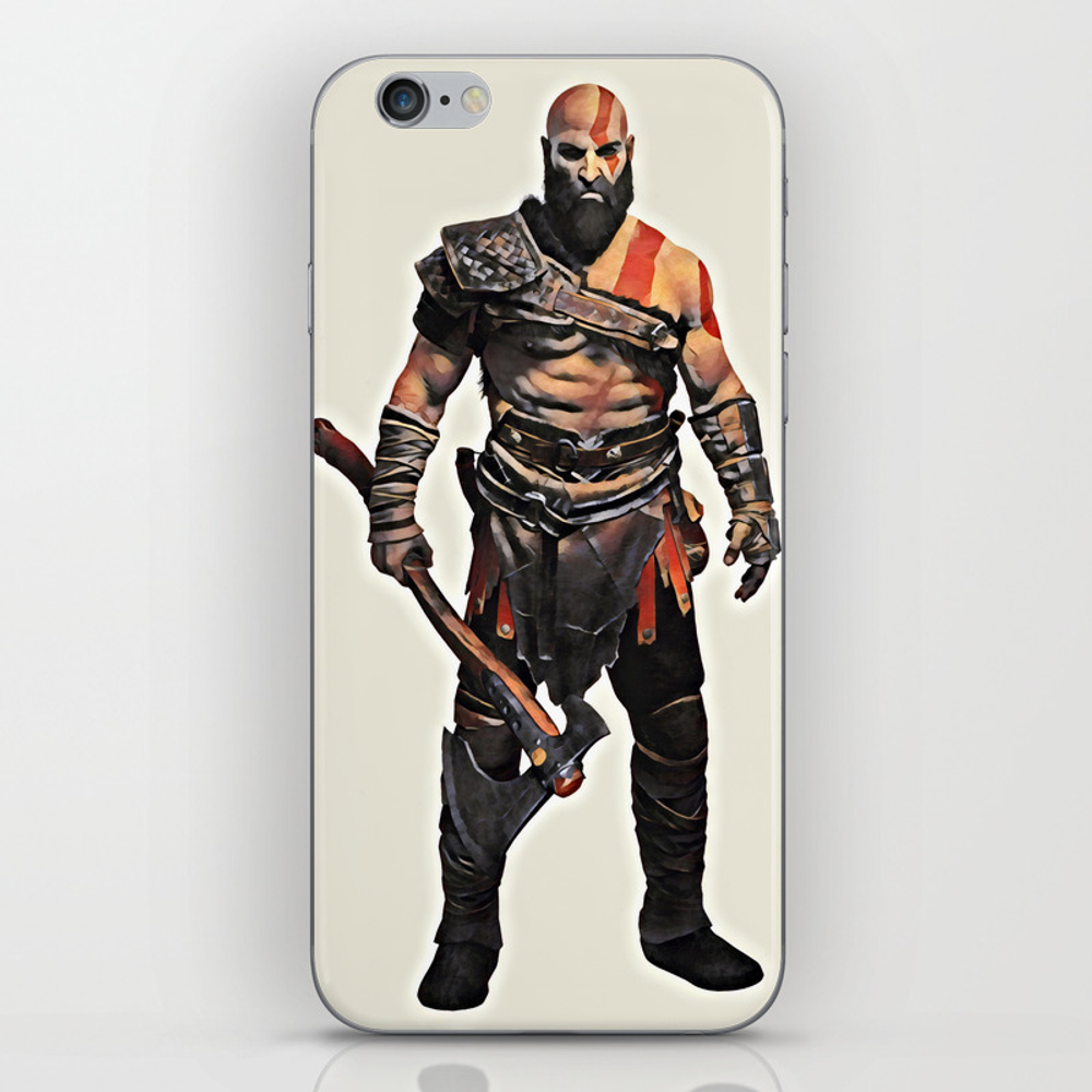 Kratos - God Of War 4 Iphone & Ipod Skin by Jessicawray PSK8977527